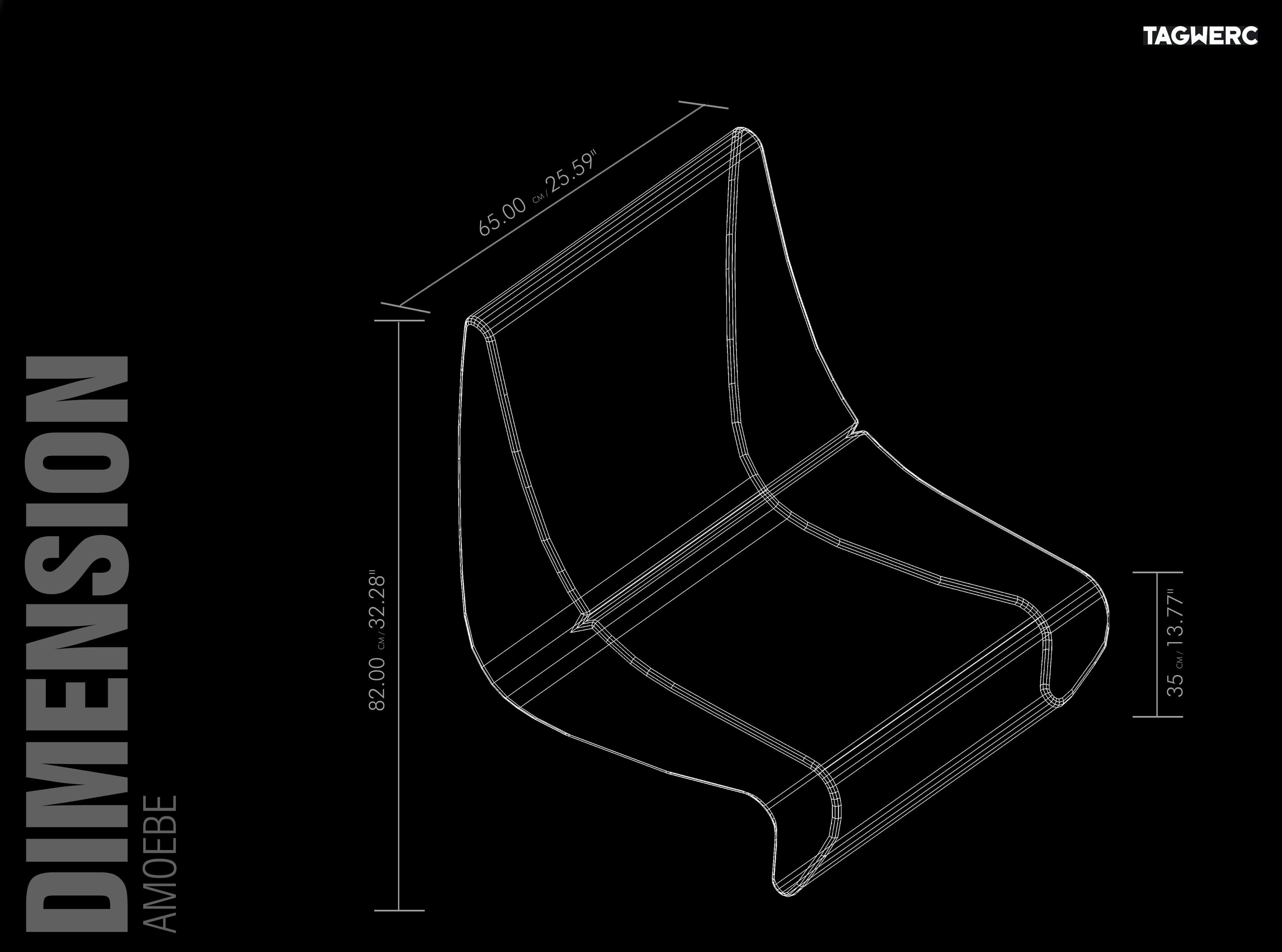Vitra Amoebe Lounge Chair Fabric Tonus Verner Panton